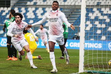 Sassuolo - Milan: gol da record per Leao, a segno dopo 6 secondi dal fischio di inizio © ANSA