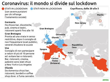 Coronavirus Il Mondo E Diviso Sul Lockdown Oceania Ansa