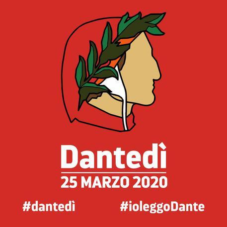 Il logo del Dantedì © Ansa