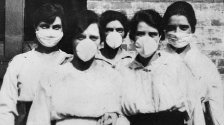 Una foto d'epoca, durante l'epidemia di influenza spagnola © EPA