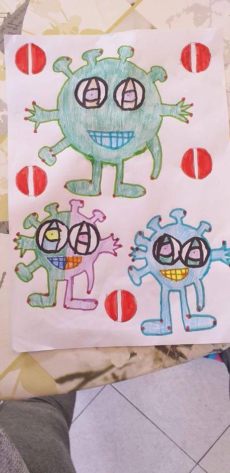 """Virus, un """"mostro"""" nei disegni bambini"""