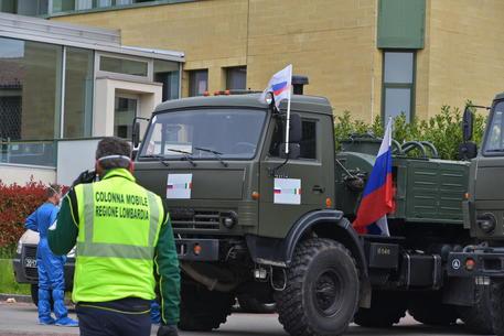 Militari impegnati in operazioni di sanificazione ad Alzano Lombardo ©