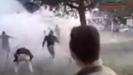 La festa a San Severo, un frame di un video © ANSA