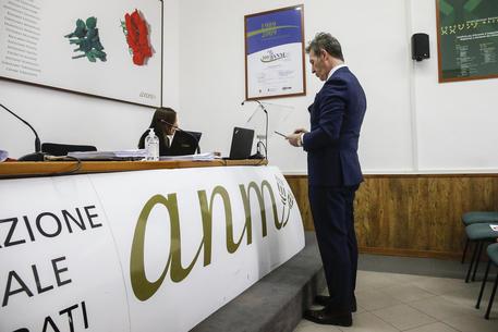 Luca Poniz durante la riunione del Comitato Anm (foto di Fabio Frustaci) © ANSA