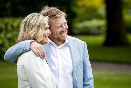 Re Willem-Alexander e la regina Maxima © EPA