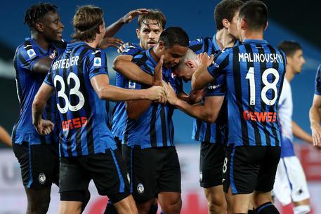 Atalanta-Sampdoria 2-0: al 40' st, gran destro dal limite di Muriel che trasforma una palla respinta dalla difesa blucerchiata. © ANSA