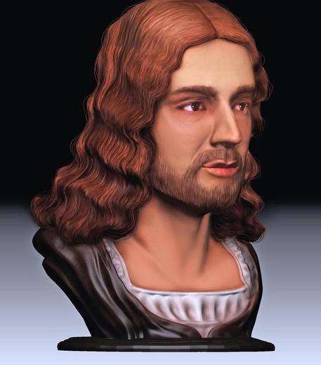 Raffaello, la prima ricostruzione facciale in 3D ©
