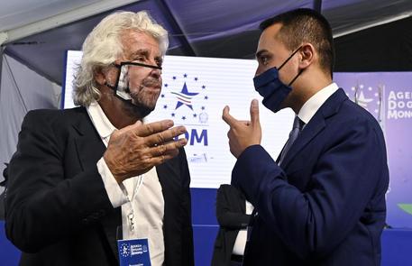 Beppe Grillo e Luigi Di Maio in una foto di archivio © ANSA