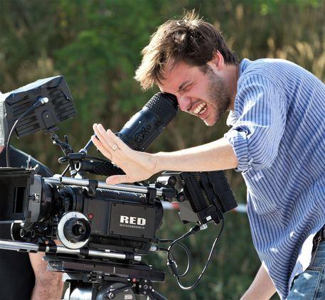 Filippo Meneghetti sul set di Due - foto da Teodora Film © ANSA
