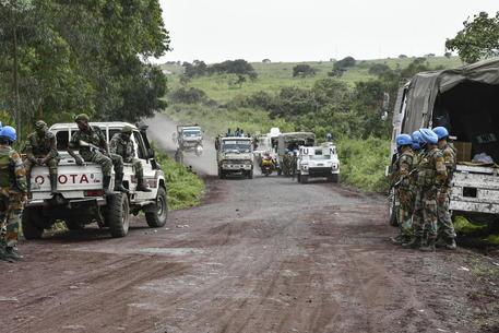 Una strada nei pressi del luogo dell'agguato in Congo © EPA