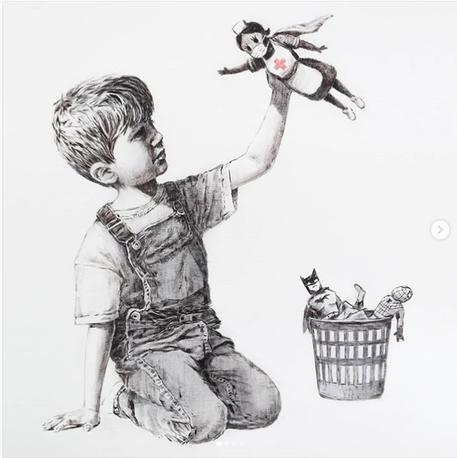 Asta record per Banksy, opera battuta a 19,4 mln © ANSA