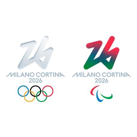 I loghi delle olimpiadi e delle paralimpiadi tratti dal profilo Fb di MilanoCortina © Ansa