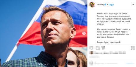 Navalny annuncia, metto fine allo sciopero della fame thumbnail