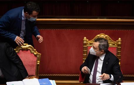 Scontro Draghi-Salvini © ANSA