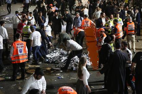 Il luogo ddove sono morte nella calca 44 persone in Galilea © EPA