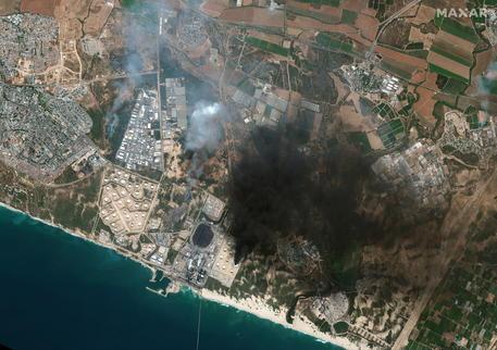 Immagine satellitare su Ashkelon © EPA