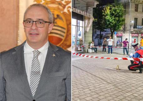 Da sinistra l'assessore Massimo Adriatici e il luogo della tragedia © ANSA