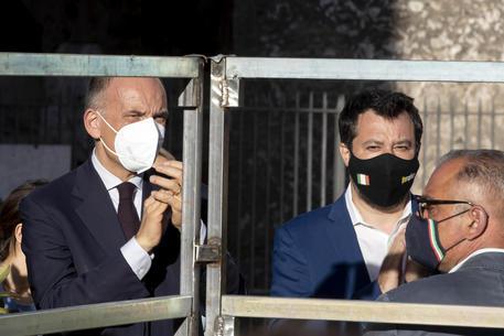 Enrico Letta e Matteo Salvini in una foto d'archivio © ANSA