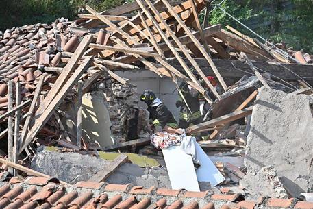 L'edificio crollato in via Bramafame, a Torino © ANSA
