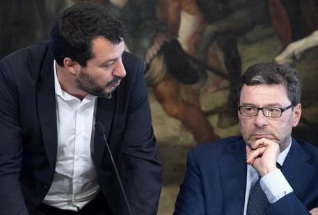 Salvini e Giorgetti in una foto di archivio © ANSA