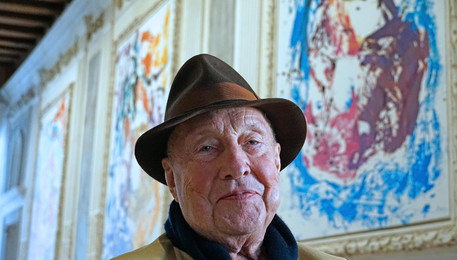 German paintor Georg Baselitz in Venice (ANSA)