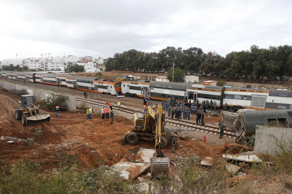 Morocco Train Derails
