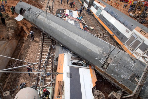 At least six people have died and around 72 were injured in a train derailment in Morocco