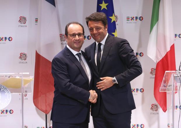 Expo 2015, Hollande e Renzi © ANSA