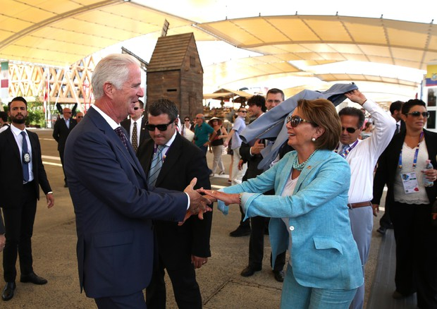 Nancy Pelosi at Expo 2015 © ANSA