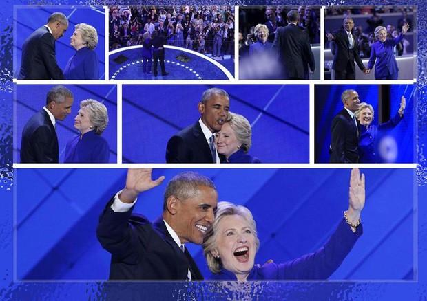 Obama e Hillary Clinton (foto: ANSA)