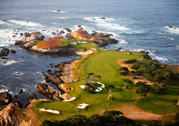 Cypress Point Club, storico campo da golf di Pebble Beach, in California (foto: Ansa)