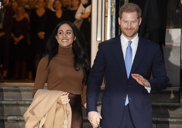 Duke and Duchess of Sussex at Canada House in London © EPA