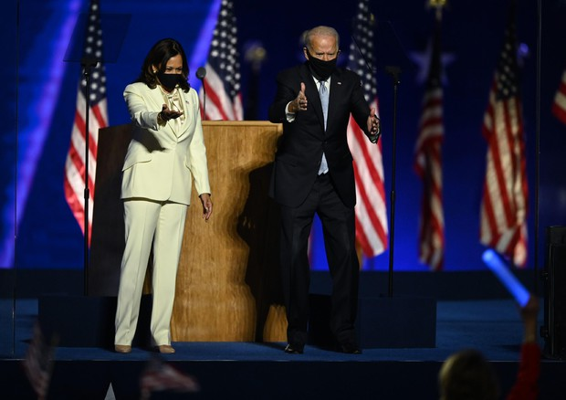 Joe Biden e Kamala Harris a Wilmington (Photo by Jim WATSON / AFP) (foto: AFP)