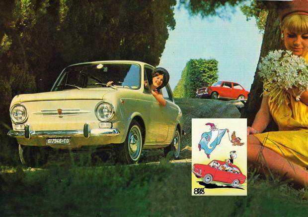 Fiat 850, al lancio nel 1964 diventa un fumetto di Topolino