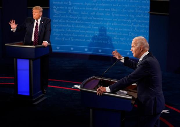 Il duello Trump-Biden (foto: EPA)