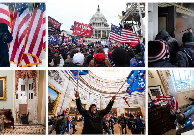 Riots in the US Capitol as supporters of US President Donald J. Trump storm the building (ANSA)