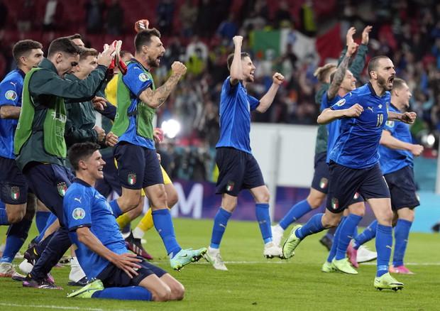 La partita Italia-Spagna (foto: EPA)