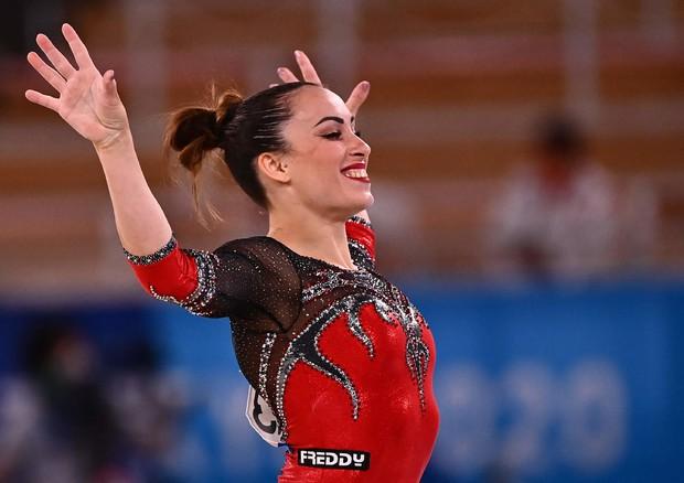 Vanessa Ferrari medaglia d'argento nel corpo libero (ANSA)