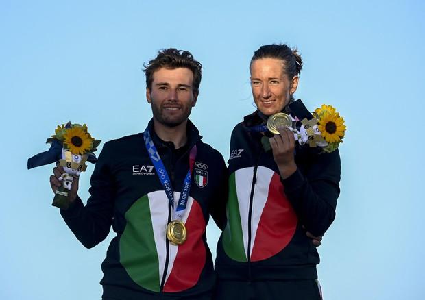 Ruggero Tita e Caterina Banti (foto: AFP)