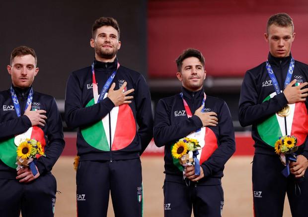 Oro quartetto ciclismo (foto: AFP)