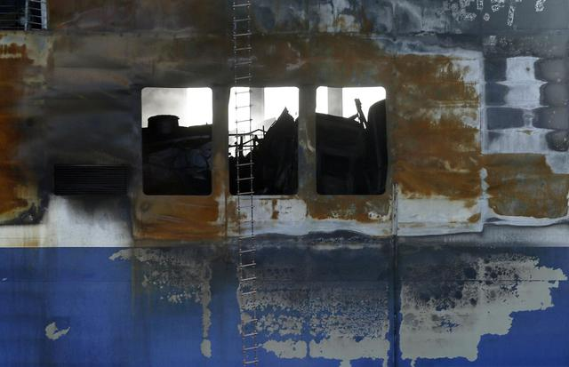 Traghetto: Norman Atlantic nel porto di Brindisi AP Photo/Antonio Calanni/ANSA © Ansa