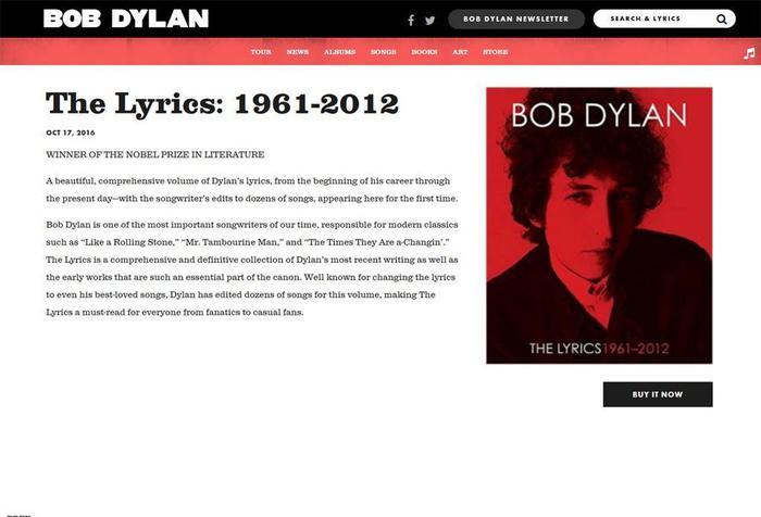 Bob Dylan, suo sito ammette il Nobel, poi ci ripensa bdf7aa0f969e7437252fd796d32d65a6