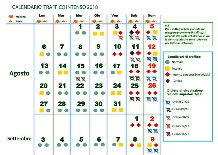 Calendario Traffico Autostrade Estate 2019.Esodo Estivo Al Via Bollino Rosso Per L Ultimo Weekend Di