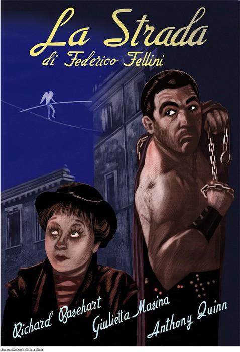 Conosciuto Le locandine dei film di Fellini in cinque tavole a fumetti KE44