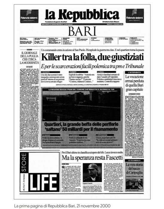 Repubblica Bari Compie 20anni Libro Omaggio Su Fatti Citta Puglia Ansa It