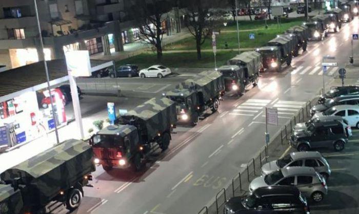 Esercito trasporta bare da Bergamo in altre regioni