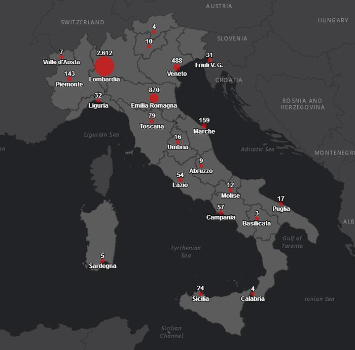 Cartina It.Coronavirus Protezione Civile Online La Mappa Dei Contagi Politica Ansa