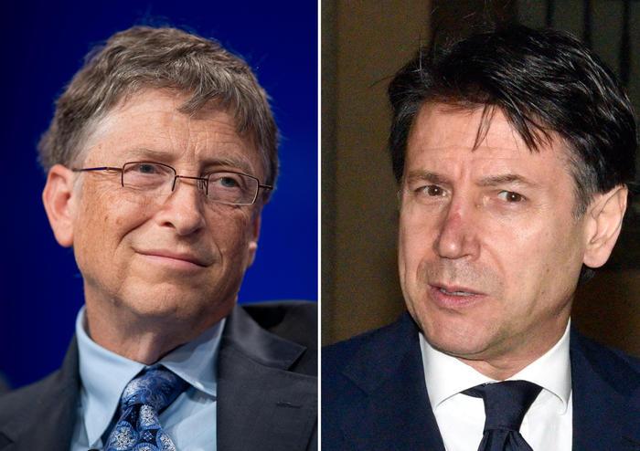 Coronavirus: in giornata telefonata tra Conte e Bill Gates