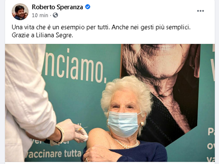 Weird Italy d7f5dfaa15c672068caf54971f987fe3 Cops probe race hate agst Segre after vaccination What happened in Italy today