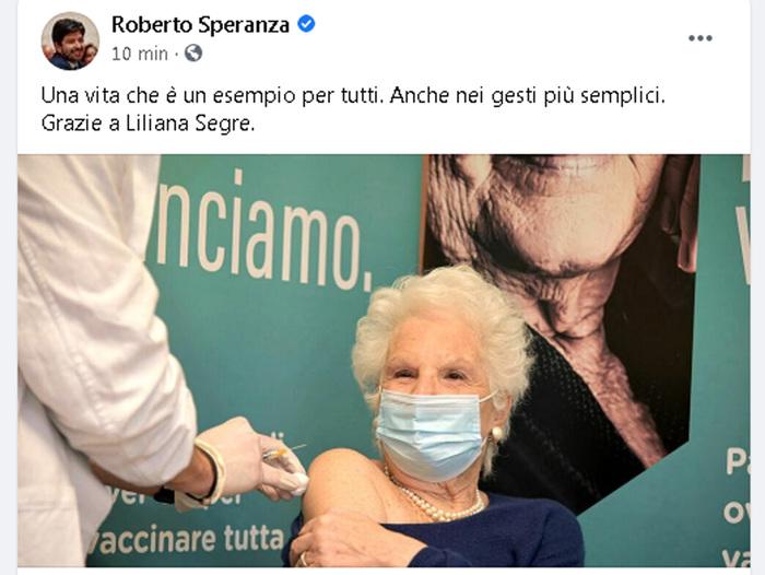 Weird Italy d7f5dfaa15c672068caf54971f987fe3 Life Senator, Holocaust survivor Segre has COVID-19 vaccine What happened in Italy today